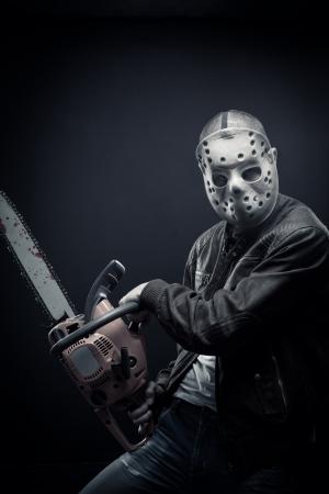 felon: Mad man with chainsaw Stock Photo