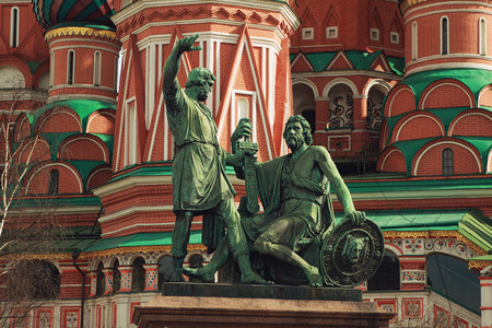 minin: The monument to Minin and Pozharsky on the Red Square in Moscow