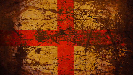 Closeup of the national flag of England.