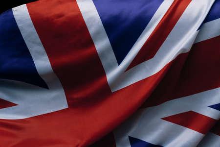 Closeup of the national flag of the United Kingdom, Union Jack.
