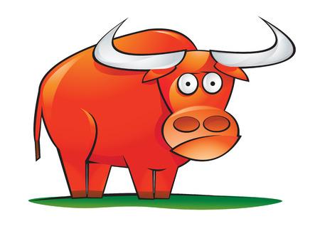 Red Bull  Stock Vector - 8022185