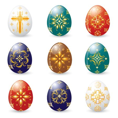 Christian Symbol Easter Eggs  photo