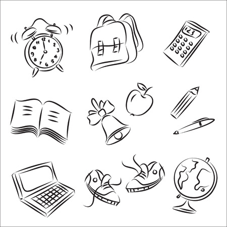 Back to School Sketch Collection  Vector