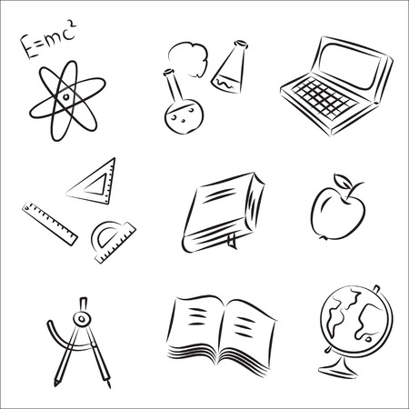 protractor: Back to School Sketch Collection  Illustration