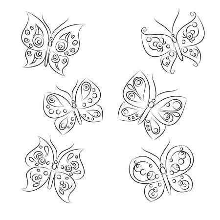 quot: Set of sketches &quot, Beautiful Butterflies&quot,