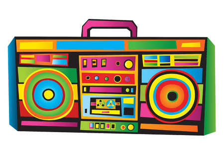 nueva york: Funny Boom Box  Vectores