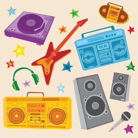 Music Set  Illustration