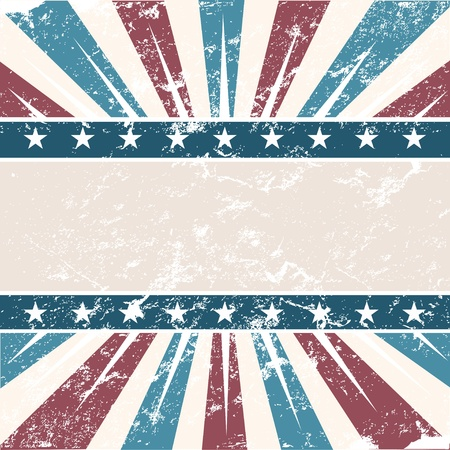 fourth of july: Old Colors American Background  Illustration