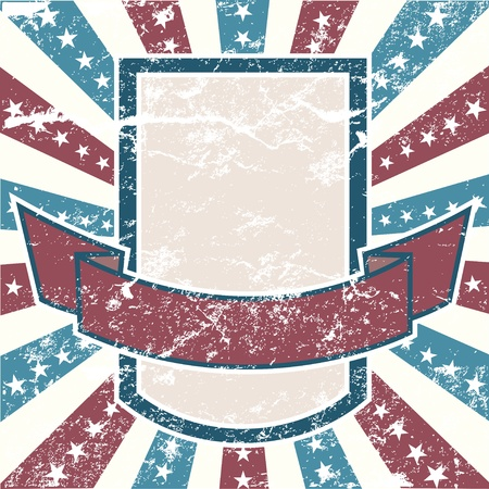 Old Colors American Background in grunge style Stock Vector - 8532553