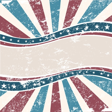 Old Colors American Background in grunge style Vector