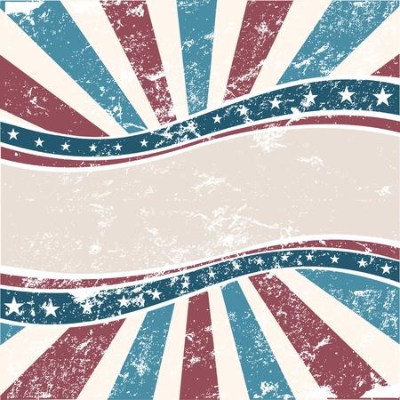verkiezingen: Oude Amerikaanse achtergrond van de kleuren in grunge stijl Stock Illustratie