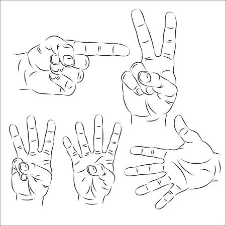 one finger: Hands