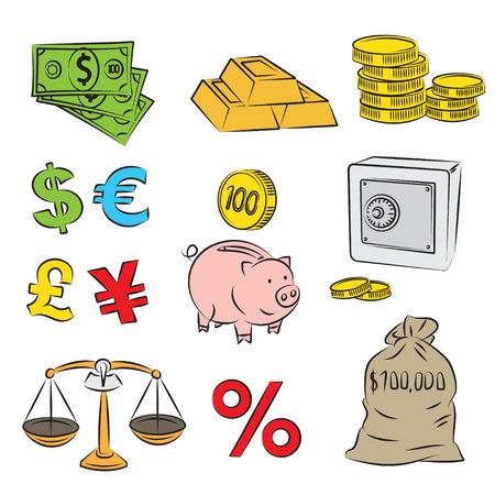 Money Sketch Set  Vector