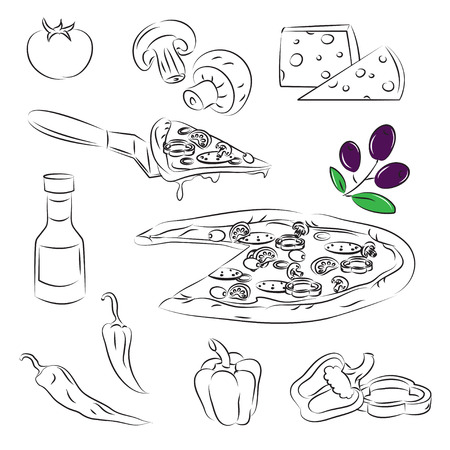 mozzarelle e formaggi: Set pizza