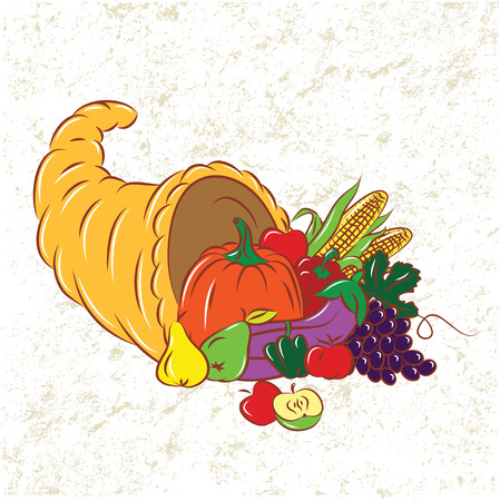 Colorful Cornucopia  Vector