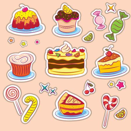 Autocollants de gâteaux et bonbons