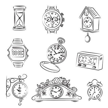 Watch Set  Stock Vector - 9084880