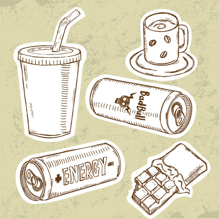Energy Drinks Set  Vector