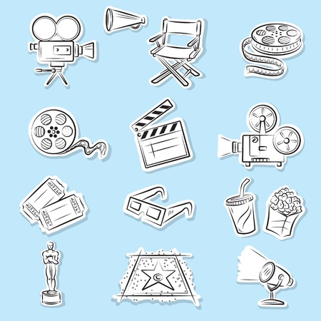 movie projector: Cinema Icons Set