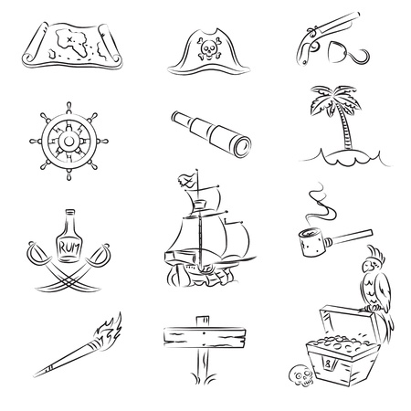 calavera pirata: Conjunto de piratas