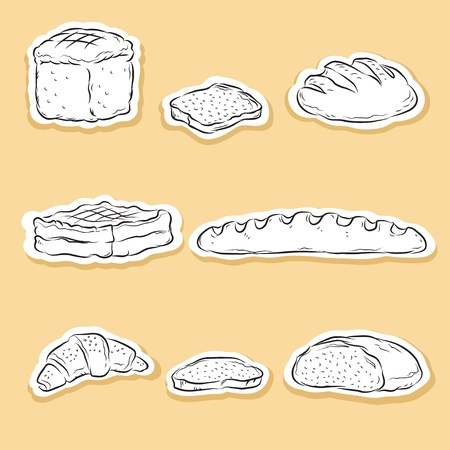 bread roll: Set of Bakery icons