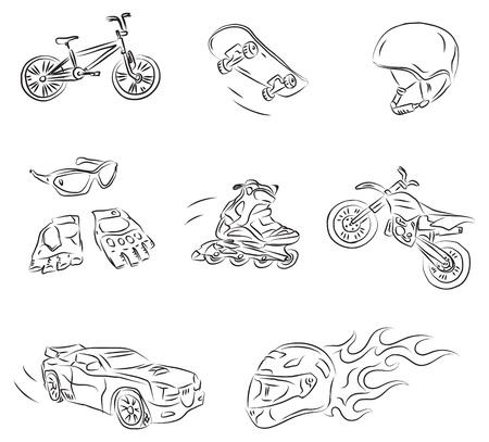 Extreme Sports Vector Sketch Stock Vector - 9507645