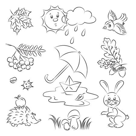 Vector Sketch Clipart Set  Stock Vector - 9507648
