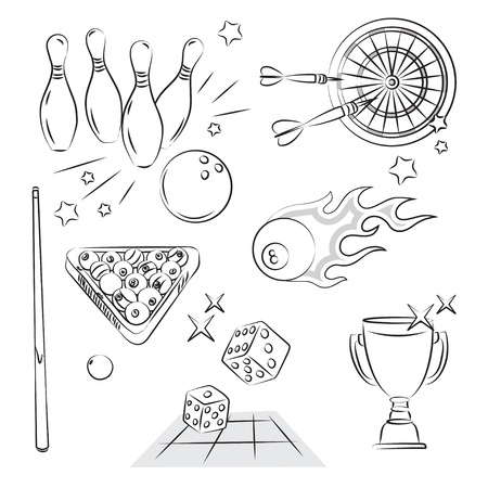 Games and Sport Entertiment Stock Vector - 9507646