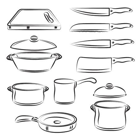 kitchen utensil: Kitchen utensil Collection  Illustration