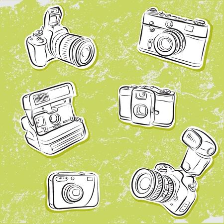 slr camera: Set of Photo cameras