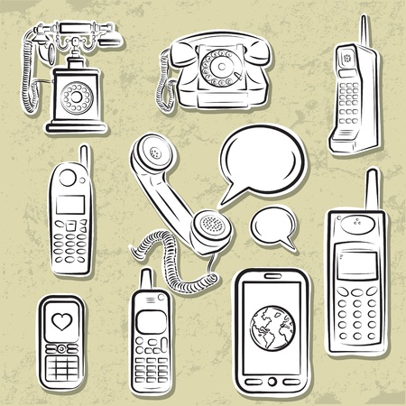 Telephones collection