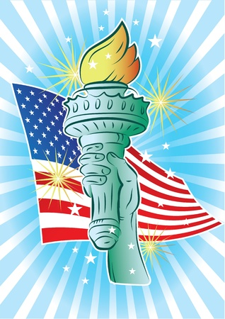 national holiday: Hand of Liberty  Illustration
