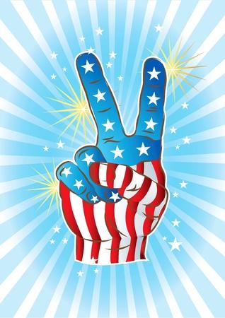 simbolo della pace: Victory mano