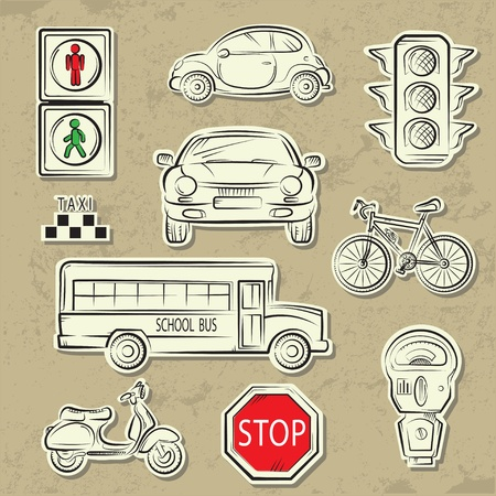 cars parking: City Traffic Icons
