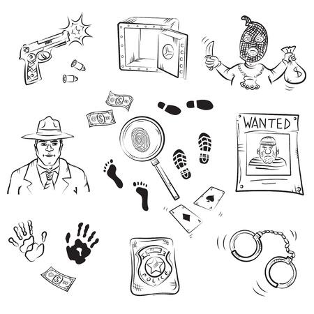 Crime Story Sketches  Ilustração