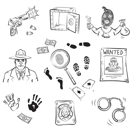Crime Story Sketches  Vector