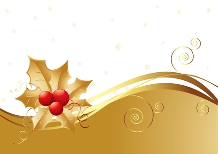 New Year background with berries