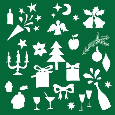 angel silhouette: Christmas Design Elements
