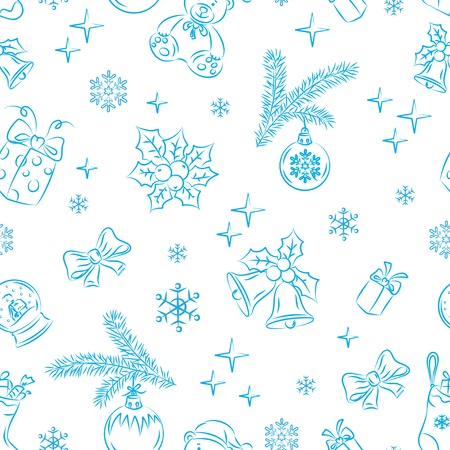 Seamless Christmas Pattern Stock Vector - 10828768