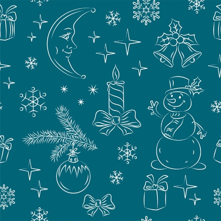 Seamless New Year background  Vector