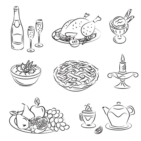 Holiday Family Dinner Vector