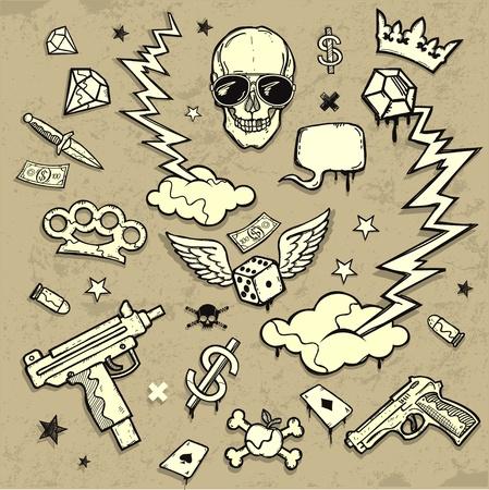 gangster with gun: Elementos de dise�o