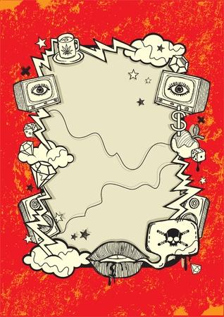 collectibles: Grunge Design Illustration