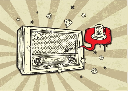 Vintage Radio Background