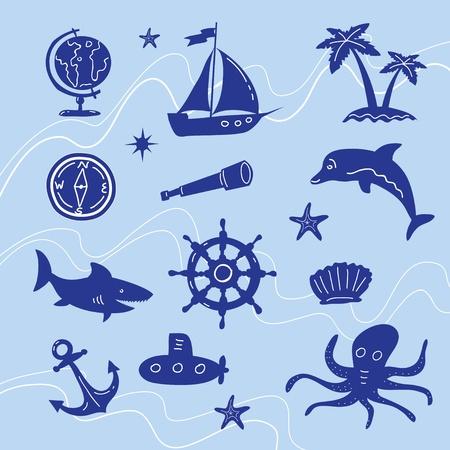 Sea Adventure Set Illustration