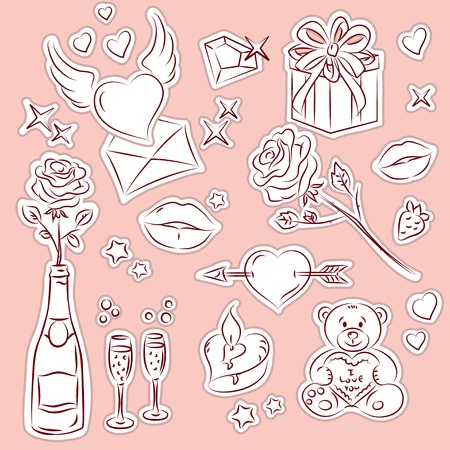 Valentines Day vector Clip-Art Set  Vector