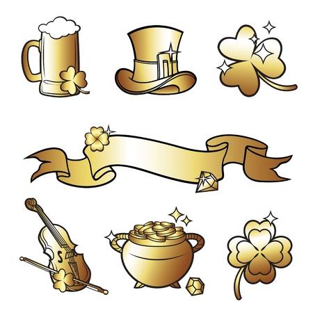 irish beer label: St. Patricks Day  Illustration
