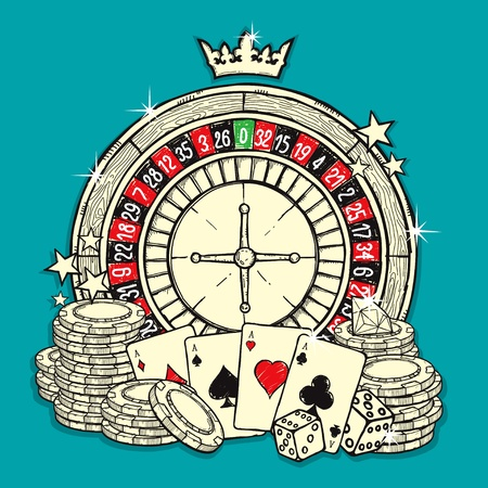 roulette wheel: Casino Illustration
