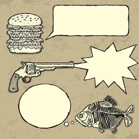 hablando: Grunge colecci�n de bocadillos