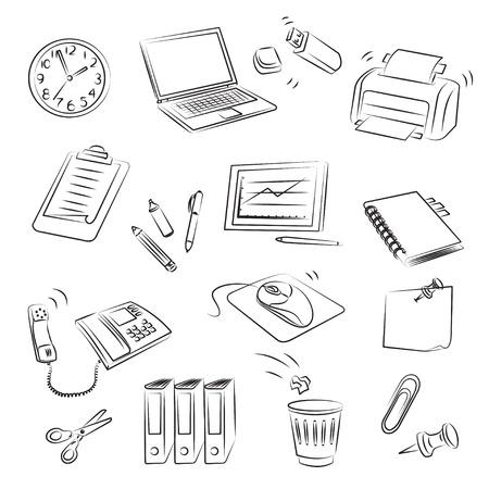 Office Set  Ilustração